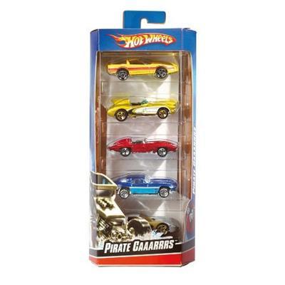Pacote com 5 Carrinhos Hot Wheels Mattel