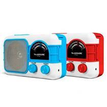 Rádio Portátil Mp3 Player HS Sound Telespark Home 5W USB Bluetooth Cartão de Memória Azul e Branco