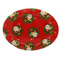 Bandeja de Natal Plástico Para Serviço de Mesa Santini 047-170655