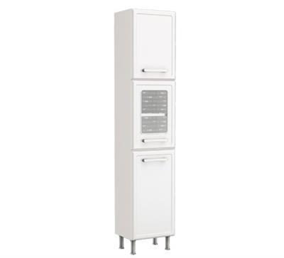 Paneleiro 3 Portas Bertolini Gourmet com Vidro 4063/190 Chapa de Aço Branco