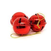 Conjunto de Guizos para Árvore de Natal 12 Peças Santini 048-956477 Vermelho