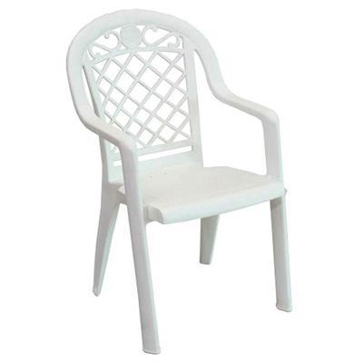 Cadeira de Plástico Grosfillex Jamaica 49249004 Branco