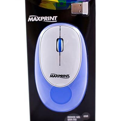 Mouse Sem Fio Maxprint Gel 6011406 Conexão Nano USB Azul