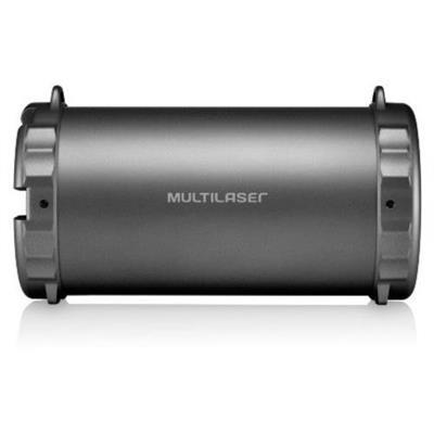 Caixa de Som Pulse Multilaser SP233 20W Bluetooth USB SD Card Prateado