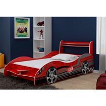 Cama Infantil Gelius Carro Flash Plus 90 MDF Vermelho