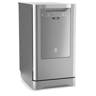 Lava-louças Electrolux LI10X Capacidade 10 Serviços Painel Blue Touch e 6 Programas de Lavagem 110V Inox