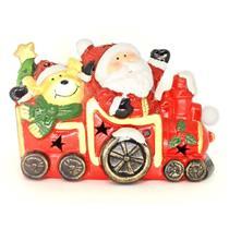 Adorno Natalino Papai Noel no Trem com Luz LED Santini 067-230205