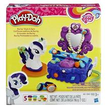 Brinquedo PlayDoh My Little Pony Penteadeira Rarity Hasbro B3400