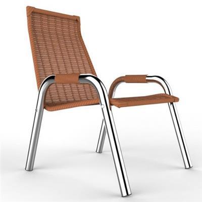Cadeira para Ambiente Externo Aço Nobre Carol Alumínio e Plástico Avelã