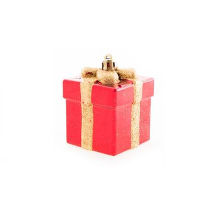 Conjunto de Adornos de Presentes para Árvore de Natal 3 Peças Santini 048-956441 Vermelho