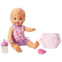 Boneca Little Mommy Bebê Faz Xixi Mattel FBC88 Plástico 37cm