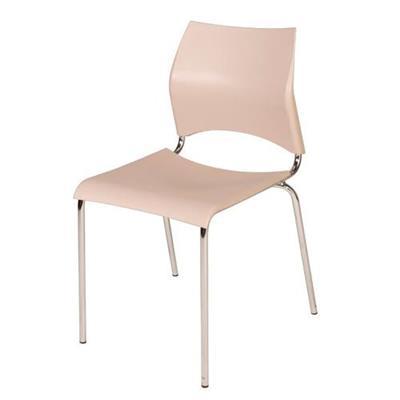 Cadeira Modecor 5001 Aço Cromado Bege