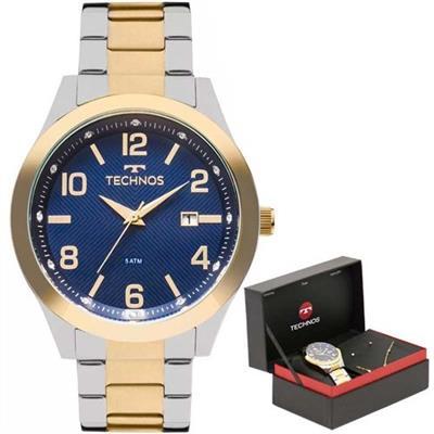 Relógio Feminino Technos 2115KZUK5A Analógico Pulseira de Aço Prata e  Dourado ff8325b027
