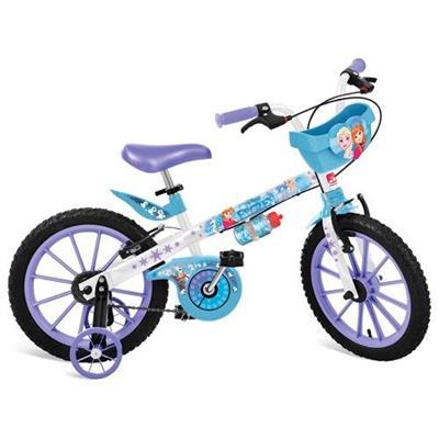 Bicicleta Disney Frozen Bandeirante 2499 Aro 16 com Cestinha