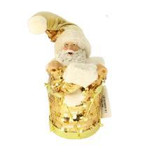 Papai Noel Decoração de Natal Santini Christmas 048-454026SM Dourado