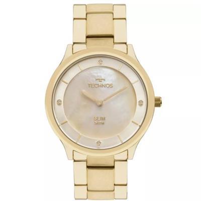 Relógio Feminino Technos GL20HF4X Analógico Pulseira de Aço Dourado