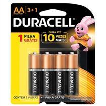 Pilha Alcalina Duracell AA L4P3 Palito