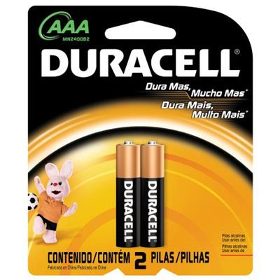 Pilha Alcalina Duracell AAA C2 Palito