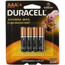 Pilha Alcalina Duracell AAA C4 Palito