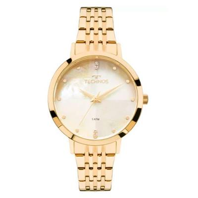 2f3abf87079 Relógio Feminino Technos 2036MJG 4B Analógico Pulseira de Aço Dourado