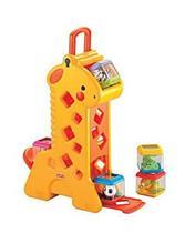 Brinquedo Giraffa com Blocos Mattel B4253 Plástico