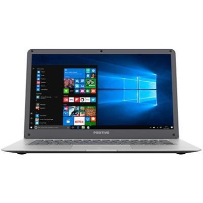 Notebook Positivo Motion Q232A 2GB RAM 32GB eMMc Tela 14 Windows 10 Home Intel Atom Prata