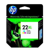Cartucho para Impressora 22XL HP Rendimento Tricolor Alto