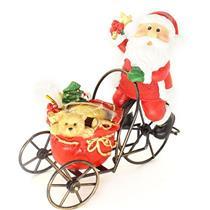 Adorno Natalino Papai Noel na Bicicleta Santini 067-050587