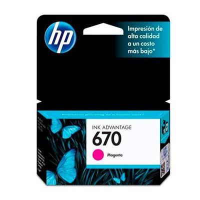 Cartucho para Impressora HP 670 CZ115AB Magenta