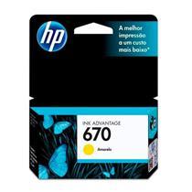 Cartucho para Impressora HP 670 CZ116AB Amarelo