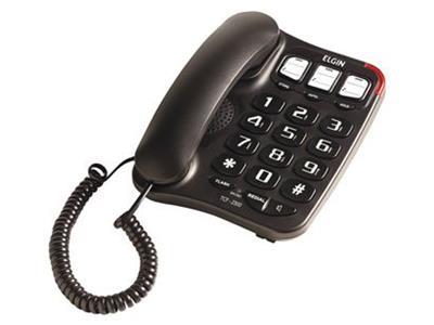 Telefone com Fio Elgin TCF 2300 com Viva-voz Preto