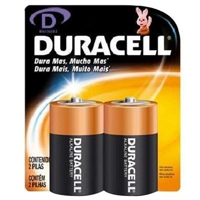 Pilha Alcalina Duracell D C2 Grande