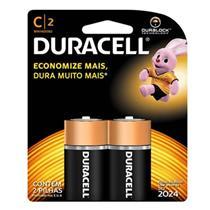Pilha Alcalina Duracell C C2 Média