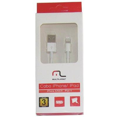 Cabo Multilaser WI256 Lighting 8 Pinos para iOS iPod iPad
