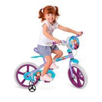 Bicicleta Disney Frozen Bandeirante 2485 Aro 14 com Rodinhas Azul