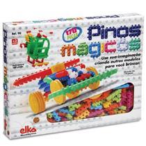 Brinquedo Pinos Mágicos 170 Peças Caixa Pequena Elka 90 Plástico Colorido