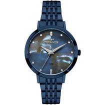 Relógio Feminino Technos 2036MJH5A Analógico Pulseira de Aço Azul 542c95e494