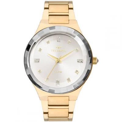 Relógio Feminino Technos 2036MJK4K Analógico Pulseira de Aço Dourado