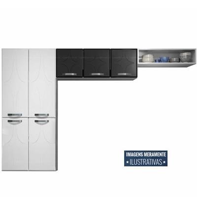 Cozinha 3 Peças Telasul Rubi 811410 Aço Branco e Preto