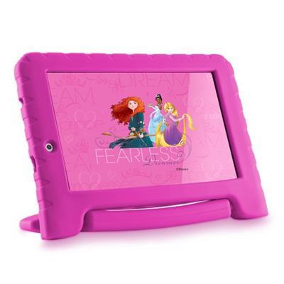 Tablet Infantil Princesas Multilaser NB281 Câmera 2MP Memória Interna 8GB Rosa