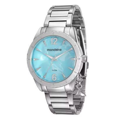 Relógio Feminino Mondaine 76643L0MVNE3 Analógico Pulseira de Aço Prata