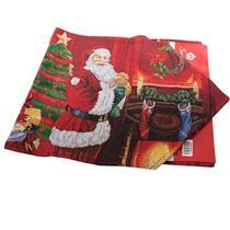 Trilho de Mesa Retangular Santini Christmas 048-283875 Tamanho 33x180cm Poliéster