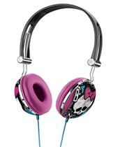 Fone de Ouvido Headset Multilaser Monster High PH100 com Haste Ajustável Preto e Rosa