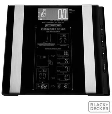 Balança Digital Black&Decker BK55-BR Taxa de gordura Percentual de Músculos IMC